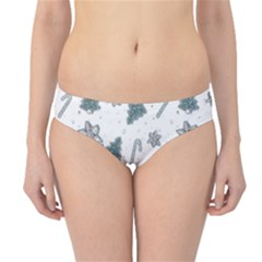 Ginger Cookies Christmas Pattern Hipster Bikini Bottoms
