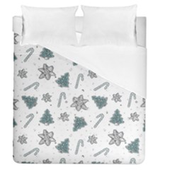 Ginger Cookies Christmas Pattern Duvet Cover (queen Size)