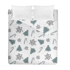 Ginger Cookies Christmas Pattern Duvet Cover Double Side (full/ Double Size)