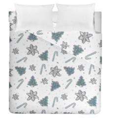 Ginger Cookies Christmas Pattern Duvet Cover Double Side (queen Size)