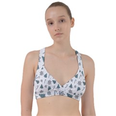 Ginger Cookies Christmas Pattern Sweetheart Sports Bra