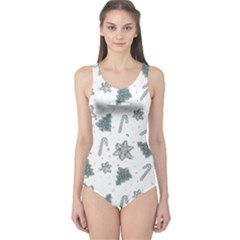 Ginger Cookies Christmas Pattern One Piece Swimsuit