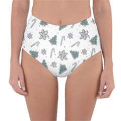 Ginger Cookies Christmas Pattern Reversible High Waist Bikini Bottoms