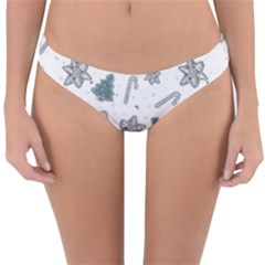 Ginger Cookies Christmas Pattern Reversible Hipster Bikini Bottoms