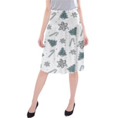 Ginger Cookies Christmas Pattern Midi Beach Skirt
