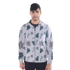 Ginger Cookies Christmas Pattern Wind Breaker (men)