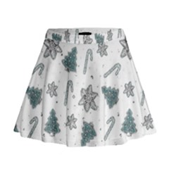 Ginger Cookies Christmas Pattern Mini Flare Skirt