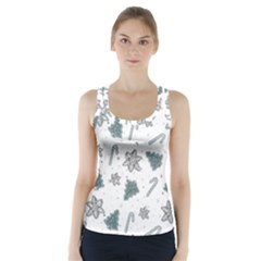 Ginger Cookies Christmas Pattern Racer Back Sports Top