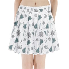 Ginger Cookies Christmas Pattern Pleated Mini Skirt