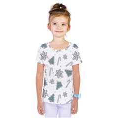 Ginger Cookies Christmas Pattern Kids  One Piece Tee