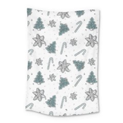 Ginger Cookies Christmas Pattern Small Tapestry