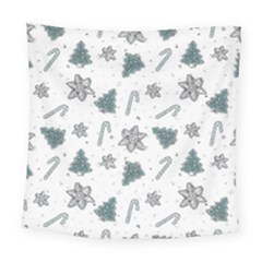 Ginger Cookies Christmas Pattern Square Tapestry (large)