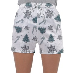 Ginger Cookies Christmas Pattern Sleepwear Shorts