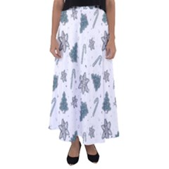 Ginger Cookies Christmas Pattern Flared Maxi Skirt