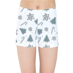 Ginger Cookies Christmas Pattern Kids Sports Shorts