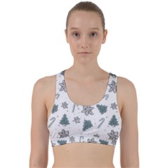 Ginger Cookies Christmas Pattern Back Weave Sports Bra