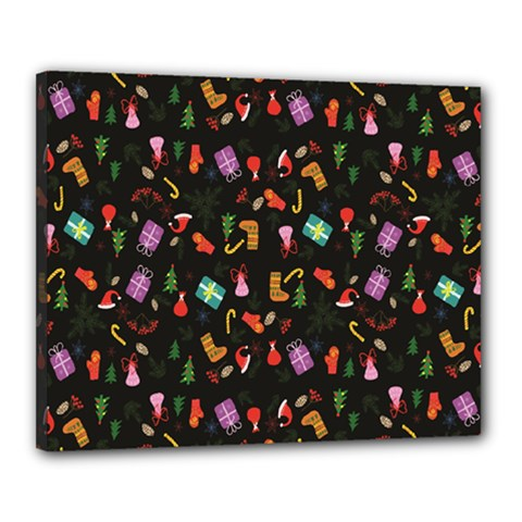 Christmas Pattern Canvas 20  X 16