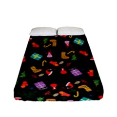 Christmas Pattern Fitted Sheet (full/ Double Size)