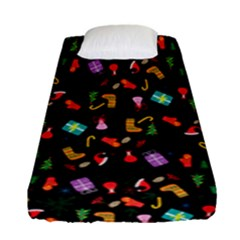 Christmas Pattern Fitted Sheet (single Size)