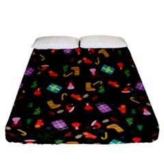 Christmas Pattern Fitted Sheet (queen Size)