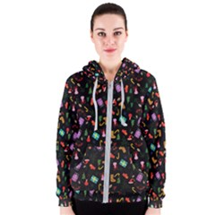Christmas Pattern Women s Zipper Hoodie