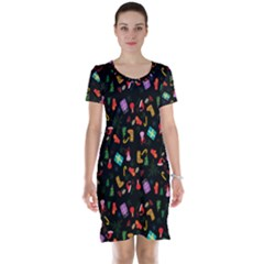 Christmas Pattern Short Sleeve Nightdress