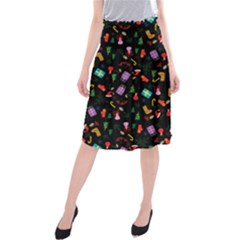 Christmas Pattern Midi Beach Skirt