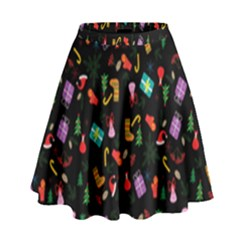 Christmas Pattern High Waist Skirt