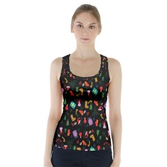 Christmas Pattern Racer Back Sports Top