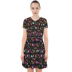 Christmas Pattern Adorable In Chiffon Dress