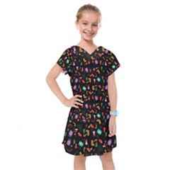 Christmas Pattern Kids  Drop Waist Dress