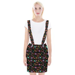Christmas Pattern Braces Suspender Skirt