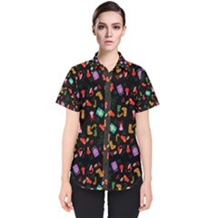 Christmas Pattern Women s Short Sleeve Shirt