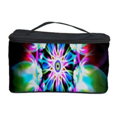 Colorful Fractal Flower Star Green Purple Cosmetic Storage Case