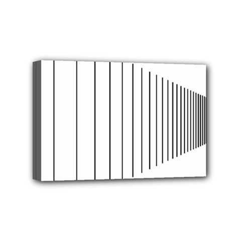 Fence Line Black Mini Canvas 6  X 4