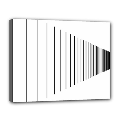 Fence Line Black Canvas 14  X 11