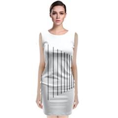 Fence Line Black Classic Sleeveless Midi Dress