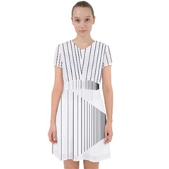 Fence Line Black Adorable In Chiffon Dress