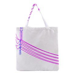 Electricty Power Pole Blue Pink Grocery Tote Bag