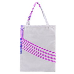 Electricty Power Pole Blue Pink Classic Tote Bag