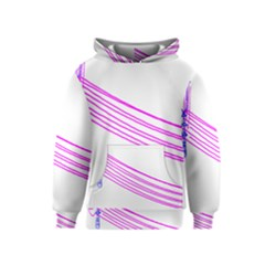 Electricty Power Pole Blue Pink Kids  Pullover Hoodie
