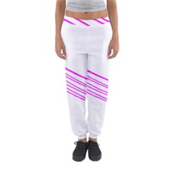 Electricty Power Pole Blue Pink Women s Jogger Sweatpants