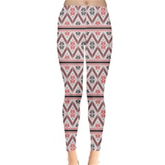 Clipart Embroidery Star Red Line Black Leggings