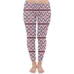 Clipart Embroidery Star Red Line Black Classic Winter Leggings