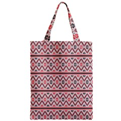 Clipart Embroidery Star Red Line Black Zipper Classic Tote Bag