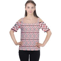Clipart Embroidery Star Red Line Black Cutout Shoulder Tee