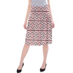 Clipart Embroidery Star Red Line Black Midi Beach Skirt
