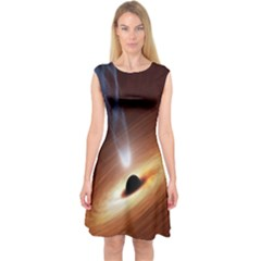 Coming Supermassive Black Hole Century Capsleeve Midi Dress