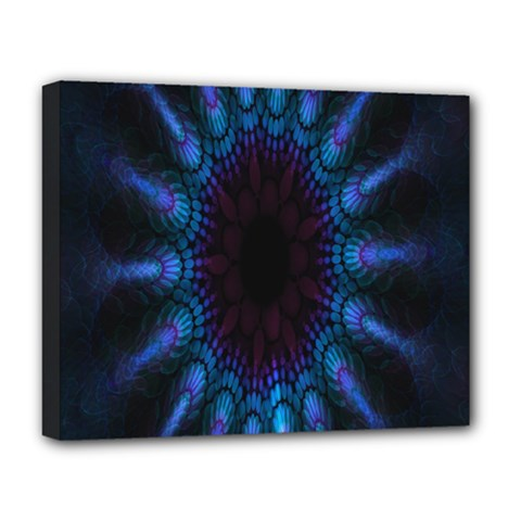 Exploding Flower Tunnel Nature Amazing Beauty Animation Blue Purple Deluxe Canvas 20  X 16