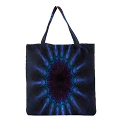 Exploding Flower Tunnel Nature Amazing Beauty Animation Blue Purple Grocery Tote Bag